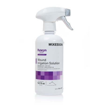 McKesson McKesson Puracyn Plus Professional Wound Irrigation Solution 16.9 oz. Spray Bottle NonSterile - 186-6517