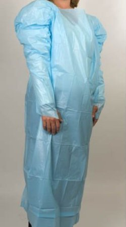 McKesson McKesson Protective Procedure Gown One Size Fits Most Adult Blue - 81013