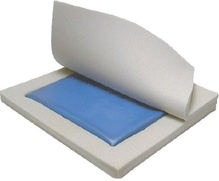"Drive Medical Gel ""E"" Seat Cushion 20 W X 16 D X 3 H Inch Foam / Gel - 14894"