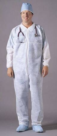Busse Hospital Disposables Coverall X-Large White Disposable - 213
