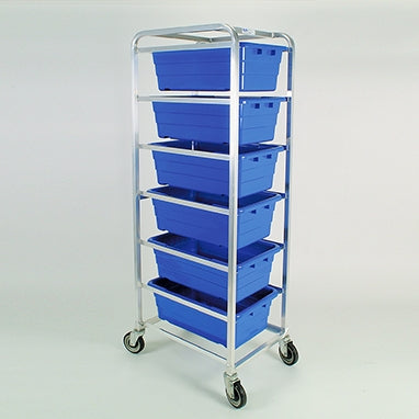 Tote Rack, 6 | Blue | Aluminum/Polyester | Health Care Logistics