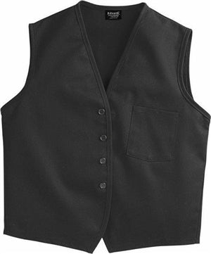 Vf Workwear 1360BKL Unisex Button-Front Volunteer Vests - Large | Black | Polyester/Fabric | Medium
