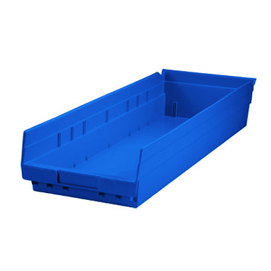 Shelf Plastic Bin Fits Neatly Inside Cart, 8x4x24