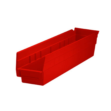 Shelf Plastic Bin Fits Neatly Inside Cart, 4x4x24