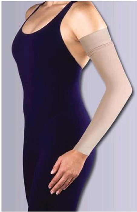 Jobst Ready to Wear Compression Arm Sleeve with Silicone Band 15-20 mmHg Compression - Beige