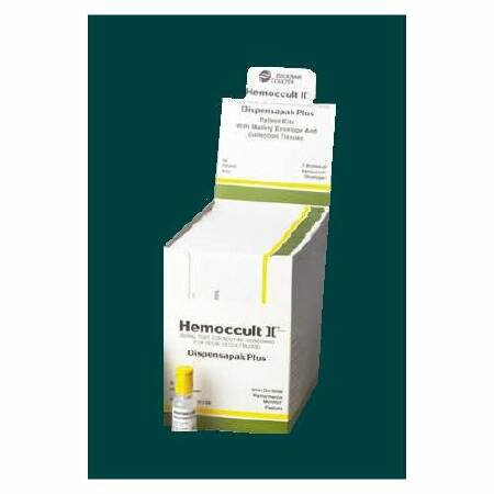 Hemocue Rapid Test Kit Hemoccult II® Dispensapak Plus Colorectal Cancer Screening Fecal Occult Blood Test (FOBT) Stool Sample CLIA Waived 40 Tests