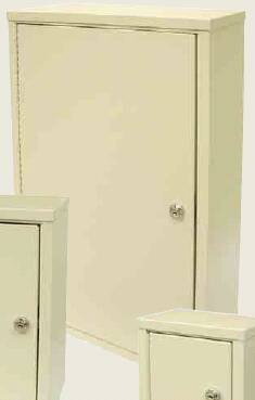 Omnimed Beam Narcotic Cabinet Wall Mount Steel 2 Shelf Double Key Lock - 182175