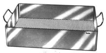 Miltex Miltex Sterilization Tray Rolled Edge Perforated Bottom Stainless Steel 3-1/2 X 10-1/2 X 15 Inch - 3-501