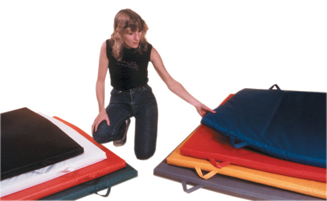 "CanDo Non-Folding Exercise Mats with Handles -1-3/8"" PE Foam with Cover, 4' x 6'"