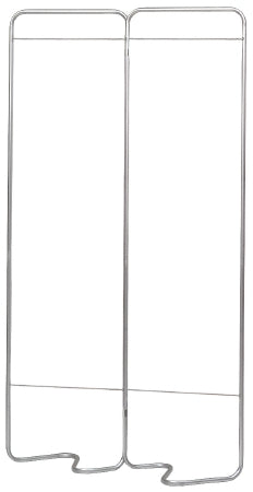 Omnimed Beamatic Privacy Screen Frame Folding 2-Panel Aluminum - 153052