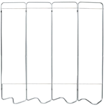 Omnimed Beamatic Privacy Screen Frame Folding 4-Panel Aluminum - 153054