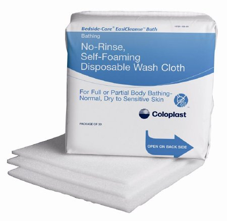 Coloplast Bedside-Care EasiCleanse Bath Wipe Soft Pack Sodium Cocoyl Isathionate / Panthenol Scented 30 Count - 7055
