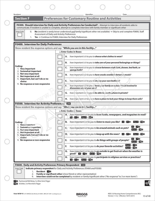 Interview Forms