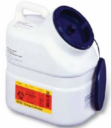 Becton Dickinson Pharmaceutical Waste Container Jug 3 Gallon White Blue Plug Cap - 305633