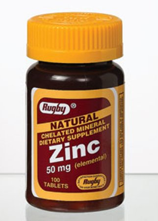 Out of Stock Major Pharmaceuticals Rugby Mineral Supplement Zinc Gluconate / Calcium 50 mg Strength Tablet 100 per Bottle - 536667101