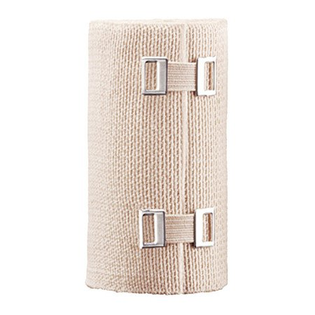3M ACE Elastic Bandage 4 Inch X 5 Yard Standard Compression Clip Detached Closure Tan NonSterile - 207433