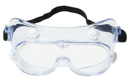 3M Protective Goggles Anti-Fog Coating Clear Tint Polycarbonate Lens Elastic Strap One Size Fits Most - 40661