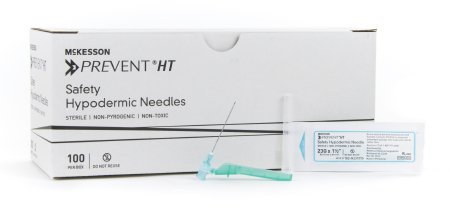 McKesson McKesson Prevent HT Hypodermic Needle Hinged Safety Needle 23 Gauge 1-1/2 Inch - 102-N23105S