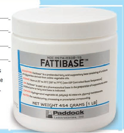 Perrigo Company Fattibase Suppository Base 1 lb. - 574030816