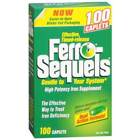 International Vitamin Corporation Ferro-Sequels Mineral Supplement Iron 50 mg Strength Tablet 100 per Bottle - 36652026769