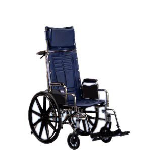 Invacare Tracer SX5 Recliner Reclining Wheelchair Dual Axle Desk Length Arm Padded, Removable Arm Style Mag Wheel 20 Inch Seat Width 250 lbs. Weight Capacity - TRSX5RC
