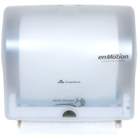 Georgia Pacific enMotion Impulse 10 Paper Towel Dispenser Translucent White Motion Activated 1 Roll Wall Mount - 59447A
