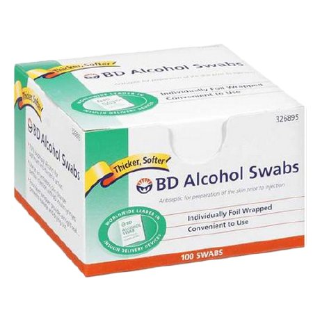 BD BD Alcohol Prep Pad Isopropyl Alcohol, 70% Isopropyl Alcohol, 70% Individual Packet 1 X 0.75 Inch NonSterile - 8290326895