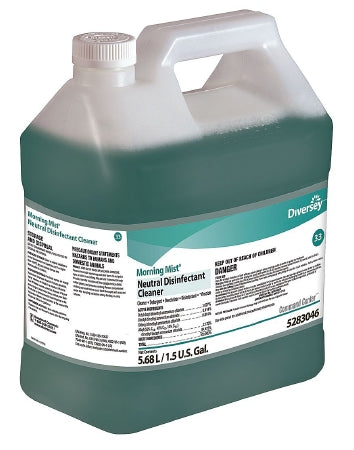 Lagasse Morning Mist Surface Disinfectant Cleaner Quaternary Based Liquid Concentrate 1-1/2 gal. JUg Fresh Scent - DVS5283046