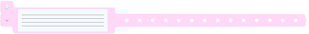 Insert-Style Vinyl ID Bands Pink