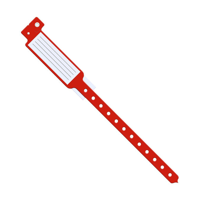 Insert-Style Vinyl ID Bands Red