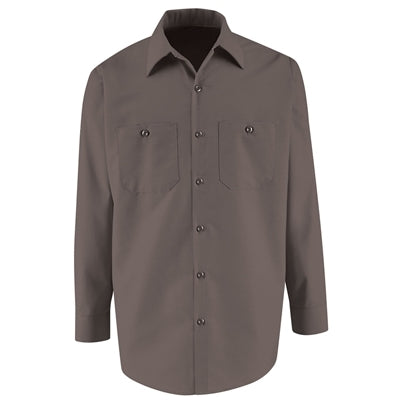 Vf Workwear Long Sleeve Industrial Solid Work Shirts, Charcoal