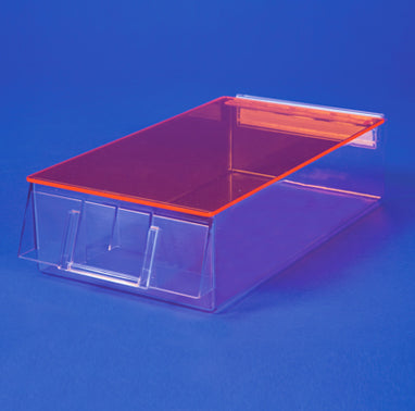 Unit Dose Bin with Amber Lid, 6x3x12