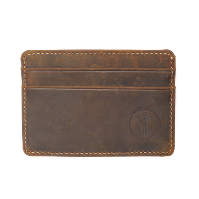 OSCAR CARD LEATHER WALLET - Captain Fin Co.