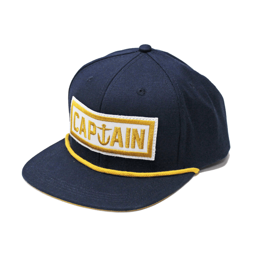 Naval Captain 6 Panel Hat Navy/Gold - Captain Fin Co.