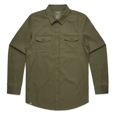 Captain Fin Co. - Military Shirt - Army
