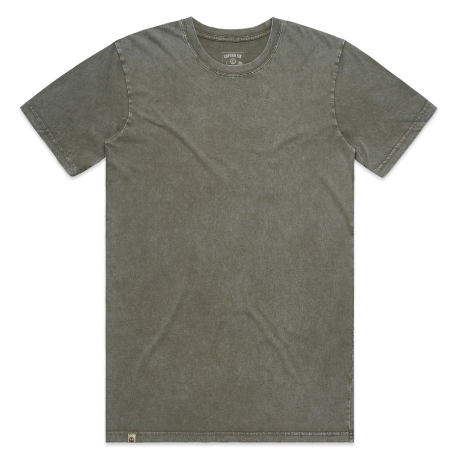 Captain Fin Co. - Stone Wash Tee - Moss