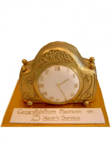 25 Years Service Clock Shaped Cake