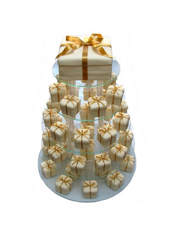 Golden wedding parcel wedding cake