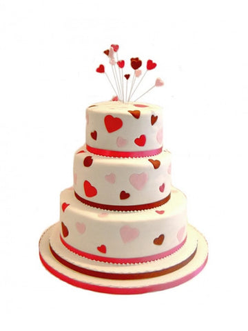My Heart Wedding Cake