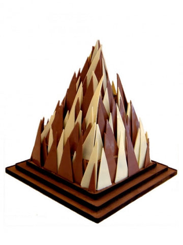 Chocolate Pyramid Wedding Cake