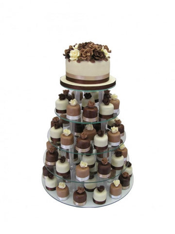 Individually decorated small wedding cake