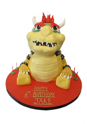 Super Mario - Bowser shaped Birthday Cake
