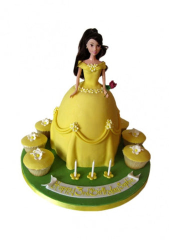 Disney Doll Cake - Belle