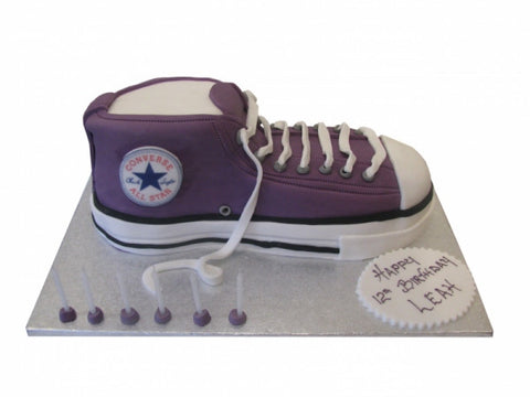 Purple Converse Shoe Cake