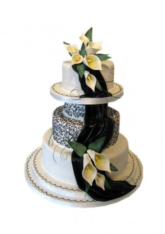 Black Drape Design Wedding Cake