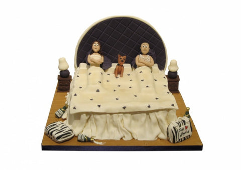 Three in a Bed! Wedding Cake