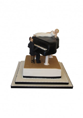 Piano couple Wedding cake