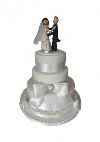 Ice Skating Couple Wedding Cake