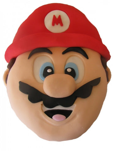 Super Mario Brothers Head Shaped Cake