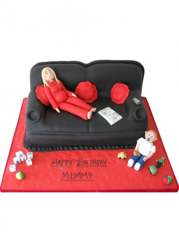 Sofa & Figures Shaped Cake